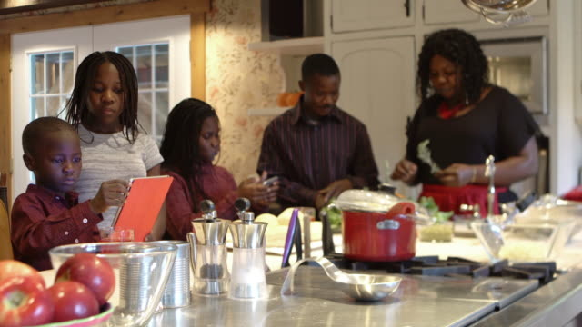 afro-american large family thanksgiving dinner home - public celebratory event stock videos & royalty-free footage