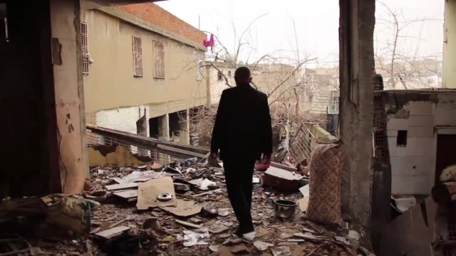 after 36 days of curfew the turkish village of silopi lies in ruins caught in the conflict between turkish security forces and members of the pkk... - silopi stock videos and b-roll footage