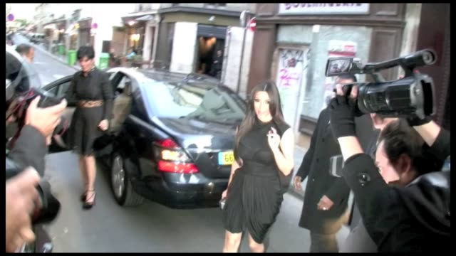 after a busy day spent shopping and visiting museums the cute pair were spotted leaving their hotel the ritz on place vendome mother and daughter... - pair stock videos and b-roll footage