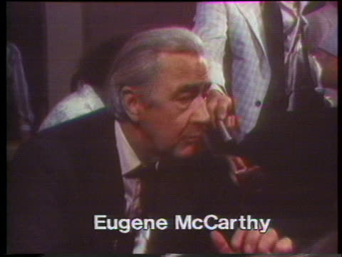 vidéos et rushes de after a debate during the 1976 presidential election, independent candidate eugene mccarthy comments that president gerald ford and democratic... - eugene j. mccarthy