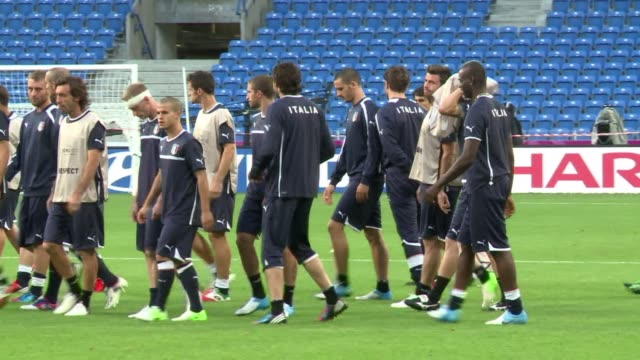 after a draw against spain and croatia, the italian national football team must win their match against ireland on monday or make an early exit from... - 2012 stock videos & royalty-free footage