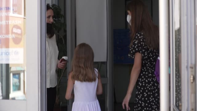 after a sixmonth break due to the covid19 pandemic students head back to school in kosovo with smaller shorter classes and mandatory masks - head back stock videos & royalty-free footage