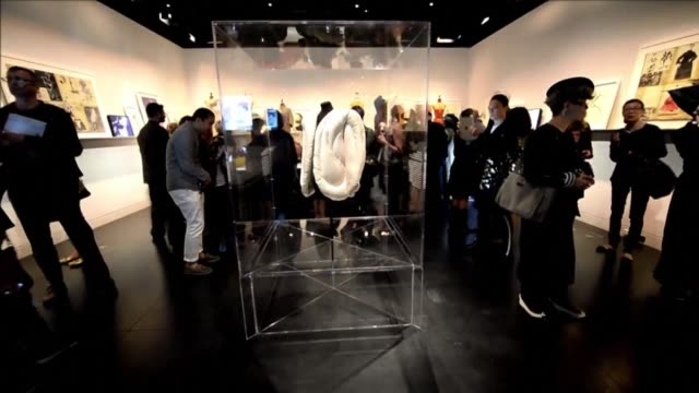 after a two year renovation the metropolitan museum of art is set to reopen its costume institute with an inaugural charles james exhibition... - 2014 stock-videos und b-roll-filmmaterial