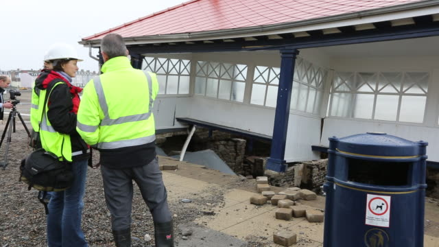 after a week of high tides, storm surges and storm - aberystwyth stock videos & royalty-free footage