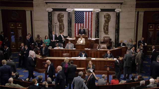 after abbreviated debate hours ahead of a deadline the house of representatives passed legislation to keep the federal government running for ten... - house of representatives stock videos & royalty-free footage