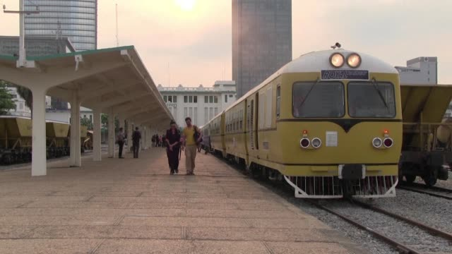 after an absence of over a decade cambodias railway service resumes on a trial basis - cambodia stock videos & royalty-free footage