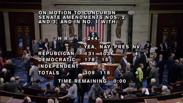 After an hour of debate under a closed rule allowing no amendments to the bill the House of Representatives passed by a vote of 309118 a fivemonth...