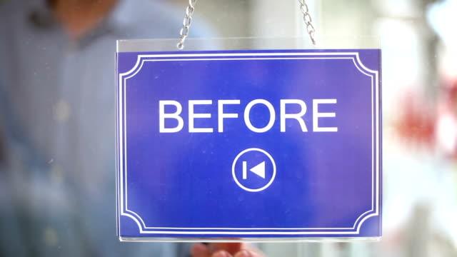 after- vor - - schaufenster stock-videos und b-roll-filmmaterial