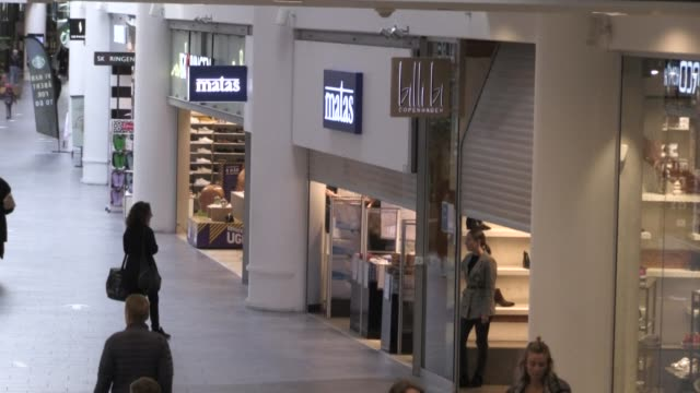after being closed for almost two months, shopping centres are opening again in denmark with stricter rules, including a one-way pathway and a... - one way stock videos & royalty-free footage