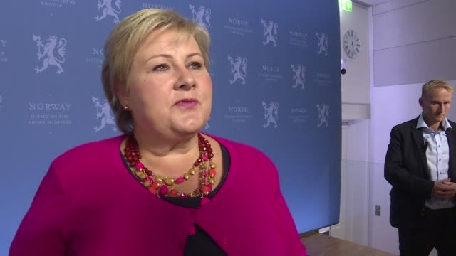 after clinching a narrow victory in norway's legislative elections prime minister erna solberg pledges to deliver policies on the most important... - prime minister stock videos & royalty-free footage