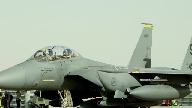 after completing their deployment on a six month rotation in southwest asia the 336th expeditionary fighter squadron is heading home to seymour... - mcdonnell douglas f 15 eagle stock videos & royalty-free footage