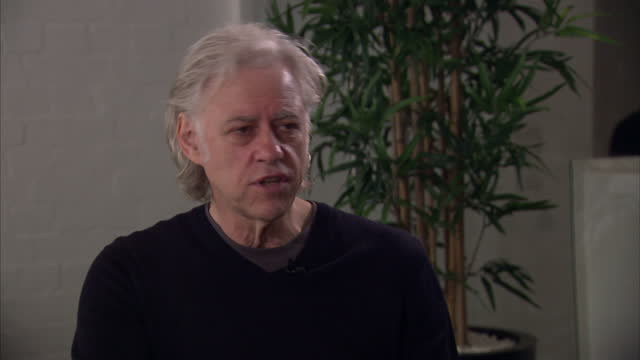 stockvideo's en b-roll-footage met after decades of campaigning for aid in africa activist sir bob geldof says now is not the time for charity but for investment to improve life on the... - bob geldof