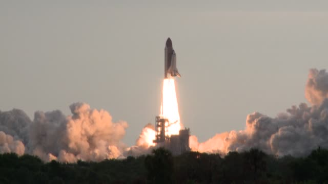 after delay, shuttle endeavour safely launches from kennedy space center final launch of the space shuttle endeavour at kennedy space center on may... - nasa stock videos & royalty-free footage