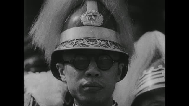 after failing to take shanghai, japan invades jehol and, despite protests, no one stops a japanese puppet government, led by emperor henry pu yi,... - manchuria stock videos & royalty-free footage