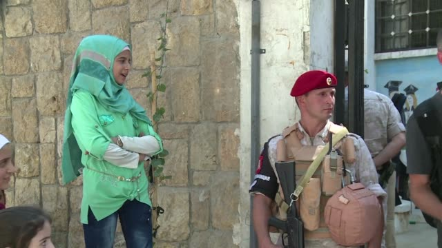 after helping retake aleppo russian forces now seek to rebuild it they said during a tightly controlled tour of aleppo organised by russia's military... - rebuilding stock videos & royalty-free footage