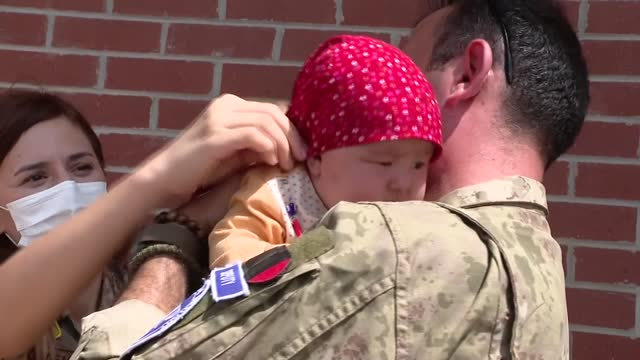 after kabul fell to the taliban thousands of afghans have flooded the airport, desperate to flee the country as uncertainty over how the taliban will... - one baby girl only stock videos & royalty-free footage