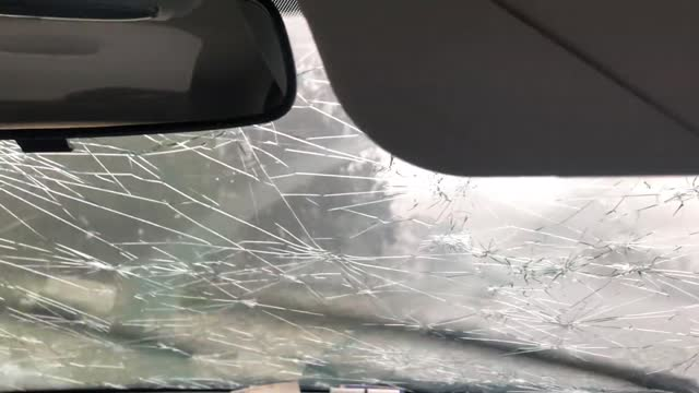 after leaving his office to run an errand in kingston, canberra, samuel bator got caught up in a severe hailstorm on january 20. huge hailstones,... - weather stock videos & royalty-free footage