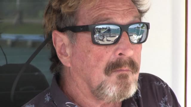 after making his fortune with antivirus software and fleeing belize after a murder case american millionaire john mcafee adds a new chapter to his... - john fortune stock-videos und b-roll-filmmaterial