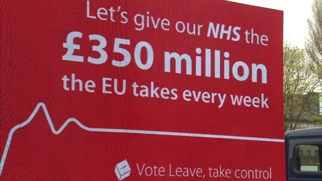 after nearly two months of political infighting over europe the official eu referendum campaigns finally got underway today as politicians on both... - brexit stock-videos und b-roll-filmmaterial