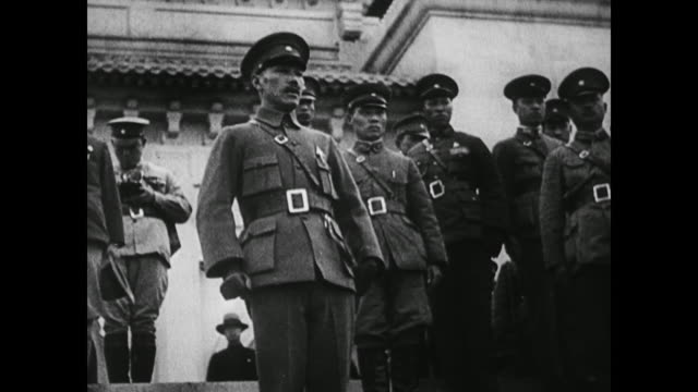 after president sun yat-sen dies, generalissimo chiang kai-shek continues to move china towards progress using the country's vast raw materials to... - chiang kai shek stock videos & royalty-free footage