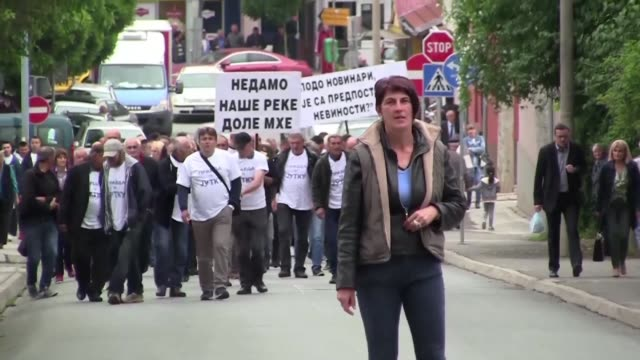 after reporting the mayor of her southern serbian town for sexual assault and harassment marija lukic is now battling angry mobs of men outside court... - patriarchy stock videos & royalty-free footage