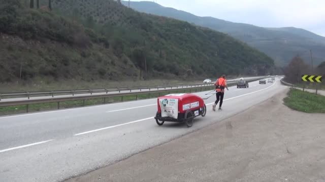 after setting out from britain months ago, a septuagenarian runner raising money for charity made her distinctive mark in western turkey on monday.... - individuality stock videos & royalty-free footage