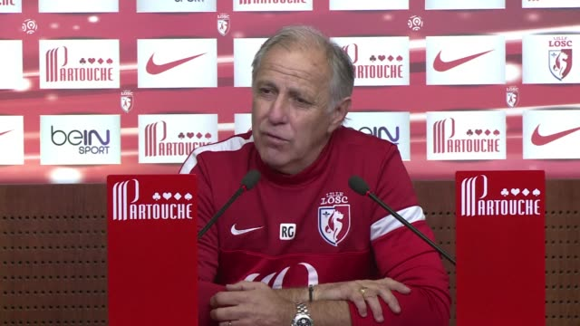 after suffering a surprise defeat to auxerre in the league cup on tuesday lille coach rene girard says his side have nothing to lose when they take... - lille stock videos & royalty-free footage