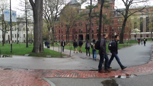 after taking a year off malia obama is slated to attend harvard starting in 2017. shots of harvard campus, buildings, and passerby - harvard university stock videos & royalty-free footage