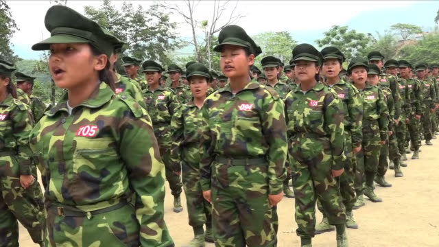 after the atrocities committed against the rohingya people in myanmar the country's military has now been accused of turning its guns on another... - myanmar video stock e b–roll