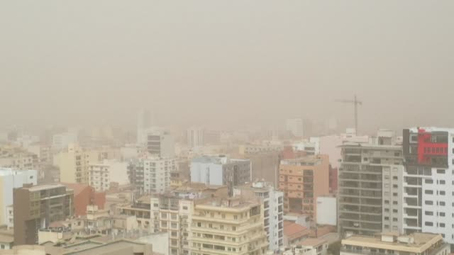 after the canaries and mauritania a sandstorm hits the capital of senegal - mauritania stock videos & royalty-free footage