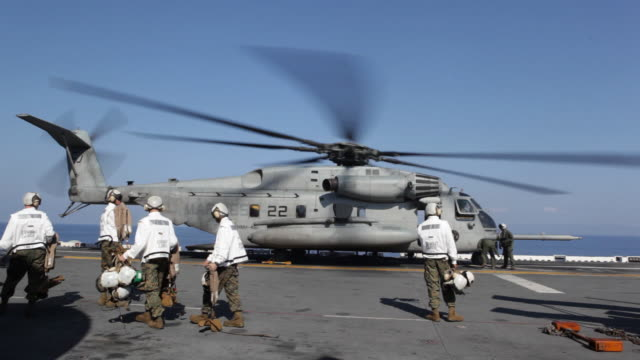 After the devastation of the January 12, 2010 earthquake.Navy helicopters on  rescue ships. 2/6/10