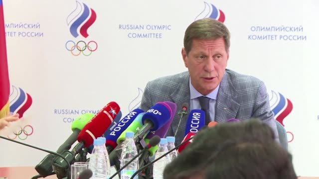 vídeos de stock, filmes e b-roll de after the international olympic committee declined to impose a blanket ban on its competitors at the rio games over staterun doping saying instead it... - rio russian