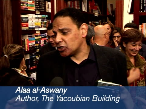 after the stunning success of his controversial novel the yacoubian building alaa alaswany has published a second book this month his debut work... - chicago world's fair stock videos & royalty-free footage