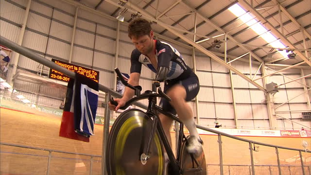 after the success of team gb's training camp at the wales national velodrome ahead of the olympics - now newport is hosting the paralympic cycling... - national team stock videos & royalty-free footage