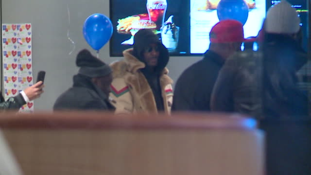 wgn after three nights at cook county jail rb singer r kelly walked out february 25 after posting a $100000 bail bondjust hours after his attorney... - mcdonald's stock videos and b-roll footage