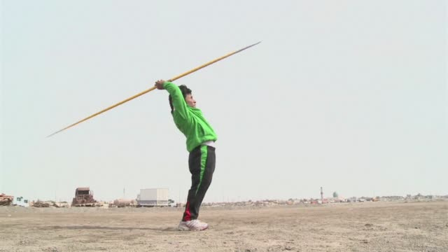 after winning the silver medal in javelin at londons paralympic games ahmed naas was disappointed to return to a life of struggle in his hometown in... - nasiriyah stock videos and b-roll footage