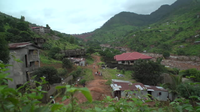 Aftermath of a devastating mudslide in Freetown Sierra Leone