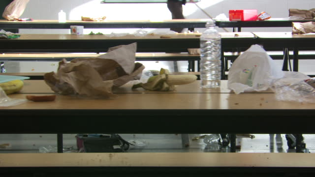 aftermath of a food fight - see other clips from this shoot 1148 stock videos and b-roll footage