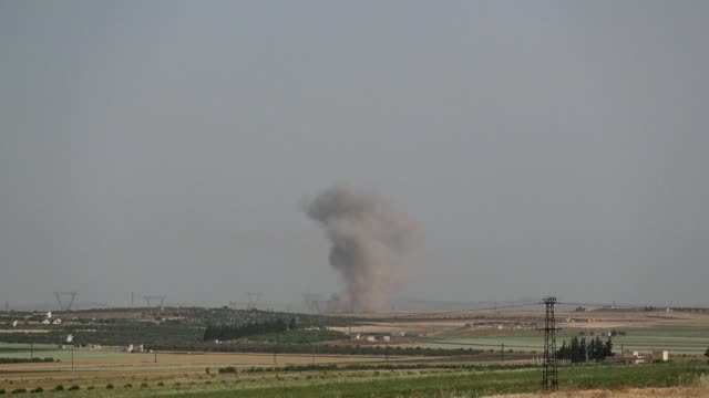 SYR: Air strikes on jihadist held town in Idlib province