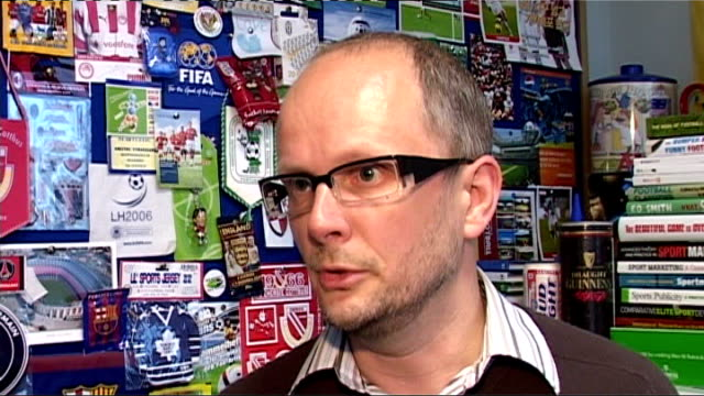 Aftermath of Champions' League final ENGLAND London INT Simon Chadwick interview SOT