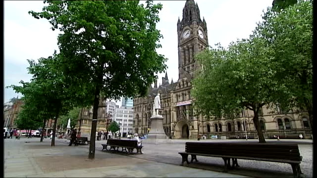 Aftermath of Champions' League final Manchester Good shot General view of Albert Square