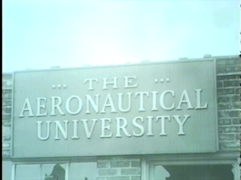 wgn aftermath of fire that destroyed the aeronautical university near midway airport on january 30 1958 - 1958 stock videos & royalty-free footage