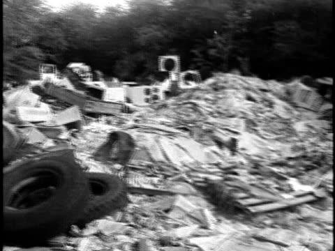 aftermath of junkyard fire/ honolulu oahu hawaii islands usa - feuerwehrschlauch stock-videos und b-roll-filmmaterial