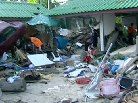 stockvideo's en b-roll-footage met aftermath of thailand tsunami - 2004