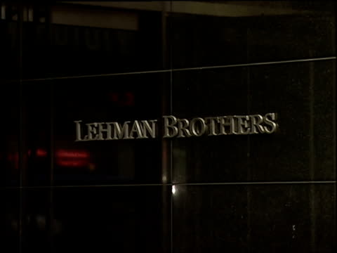 aftermath of the lehman brothers collapse on new york city's workforce and economy a journalist from the wall street journal discusses the business... - 2008 stock videos & royalty-free footage