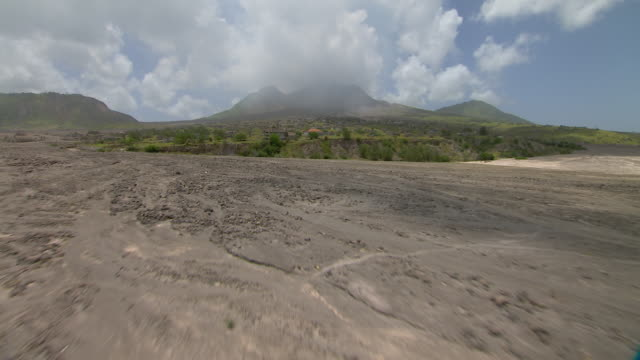 Aftermath of volcanic eruption on Montserrat in the Caribbean Islands.