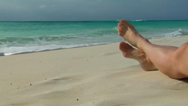 Nachmittag Pause am Strand