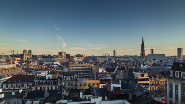 afternoon in brussels - timelapse - regione di bruxelles capitale video stock e b–roll
