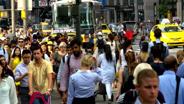 Afternoon Rush Hour, People Traffic, 5th Ave, Manhattan, New York City