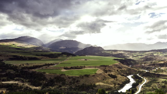 afternoon time-lapse in cerro castillo park in chilean patagonia - patagonia chile stock videos and b-roll footage